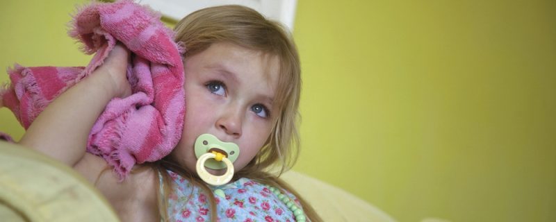 Girl With Soother And Blanket